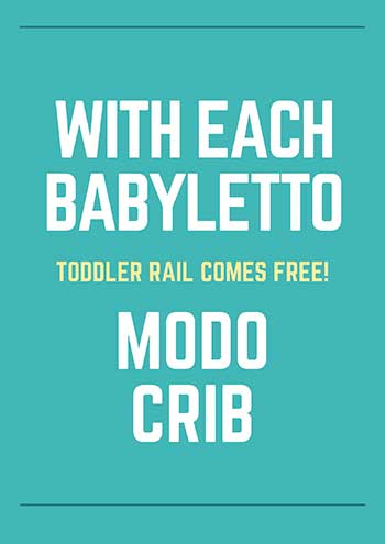 babyletto modo crib - free toddler rails