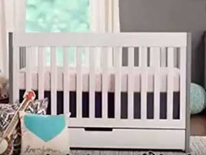 Babyletto Mercer Crib Reviews 2020 : Features Under Storage Drawer!