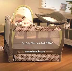 Can Baby Sleep In Pack N Play Napper & How To Get Her To In Sleep?
